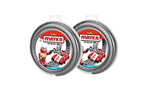 Mayka Toy Block Tape - 2 Stud - Grey - 6 Feet - 2 Pack (Compatible with Lego)