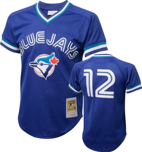 Mitchell and Ness 1993 Roberto Alomar Blue Jays Mens BP Jersey in Blue