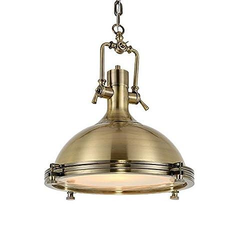 Lampop Lámpara Luz de Colgante Industrial Lámpara de Techo Vintage de Metal Estilo Retro E27