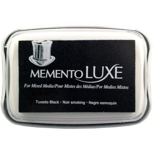 Tsukineko Memento Luxe Mixed Media Inkpad, Tuxedo Black ()