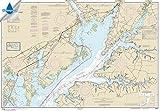 51 chart - NOAA Chart 12274: Head of Chesapeake Bay, 35.5 X 51, WATERPROOF