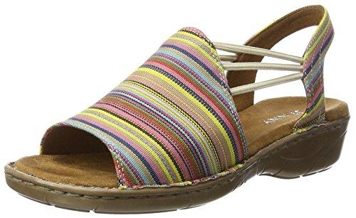 Heels Korsika Jenny III Red Rainbow Women's Sandals Wedge 71xxAq8T