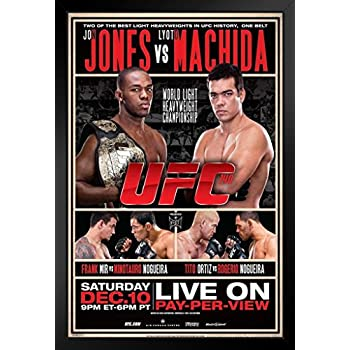 Official UFC 163 Jose Aldo vs Chan Sung Jung Korean Zombie Sports Matted Framed Poster 20x26 inch
