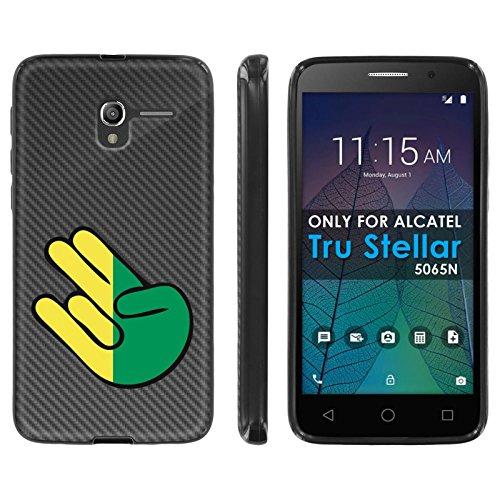 [Mobiflare] Alcatel Tru [5065N] Pop 3 TPU Silicone Phone Case [Black] Ultraflex Thin Gel Phone Cover - [JDM Carbon Shocker] for Alcatel Tru/Stellar