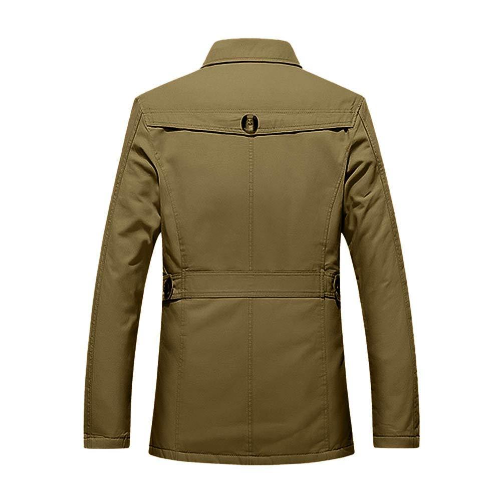 Amazon.com: Mens Autumn Winter Casual Coat, Button Thermal ...