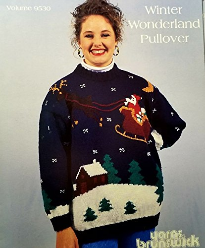 - Brunswick Yarns Winter Wonderland Pullover Sweater Pattern sz 34/44 Bust