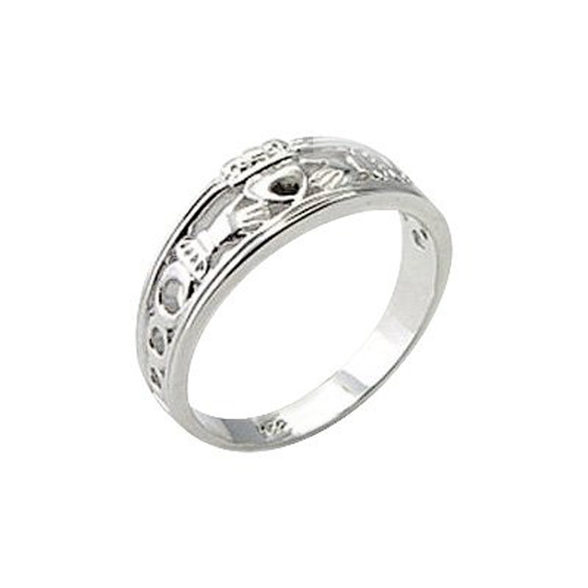 Bague, argent sterling, Claddagh irlandais (poids : 3,3g) HYPM Jewellery SSR-019