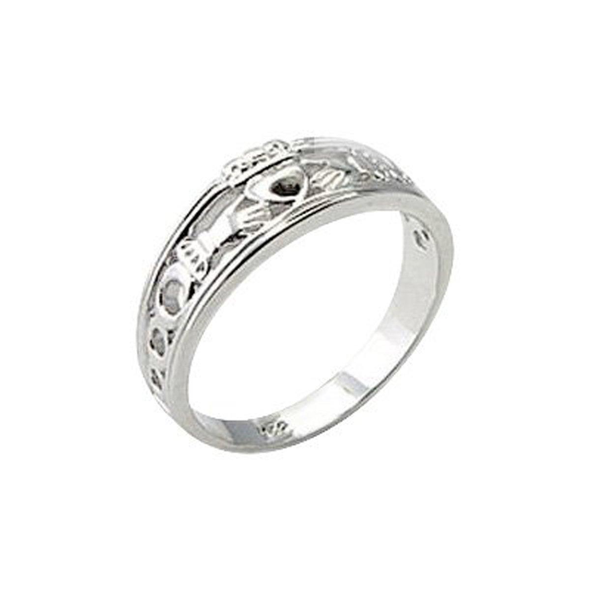 Bague, argent sterling, Claddagh irlandais (poids: 3,3g) HYPM Jewellery SSR-019