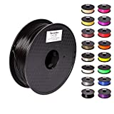Pxmalion ABS 3D Filament, Bright Black, 1.75mm, Accuracy +/- 0.03mm, Net Weight 1KG(2.2LB), Compatible with most 3D Printer & 3D Printing Pen