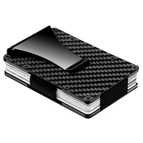 Carbon fiber slim credit card holder rfid blocking front pocket carbon fiber slim credit card holder rfid blocking front pocket wallet money clip minimalist wallet amazon office products reheart Gallery