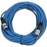 SEISMIC AUDIO - SAXLX-50 - 50' Blue XLR Male to XLR Female Microphone Cable - Balanced - 50 Foot Patch Cord