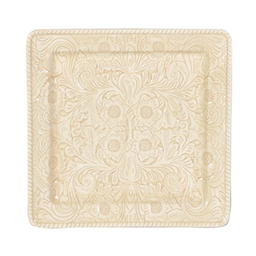 Savannah Cream Serving Platter