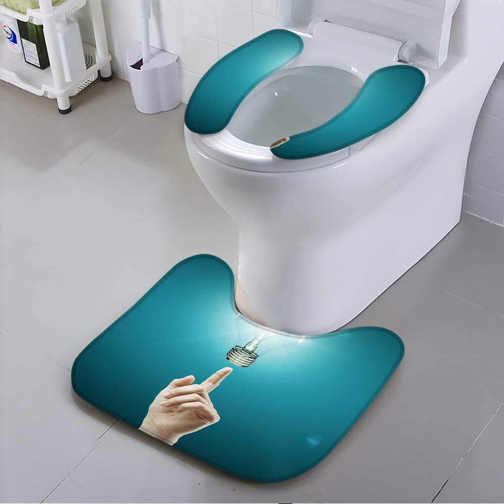 L-QN Toilet seat Cover Bulb Light on Women fingertip Soft Non-Slip Water