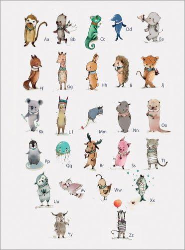 Poster 30 X 40 Cm Abc Tiere Das Alphabet Deutsch Von Paola