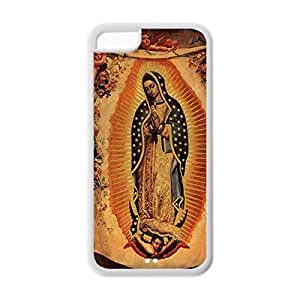 Back cooling Soft TPU sums Case Custom DIY Virgin Mary Christian and Child Baby Jesus for Protective Soft TPU Case for iphone 6 plus (White 020329)