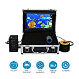 Eyoyo Professional 9 inch LCD Monitor HD 1000TVL Camera with 12 Adjustable Infrared LED Lights Underwater Ice / Lake Fishing Video Camera DVR Fish Finder w/ 8GB TF Card