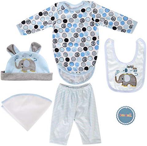 [해외]ENADOLL Reborn Dolls Baby Clothes for 22 Newborn Doll Boy Baby Clothing Blue Elephant Outfit Sets Accessories / ENADOLL Reborn Dolls Baby Clothes for 22 Newborn Doll Boy Baby Clothing Blue Elephant Outfit Sets Accessories
