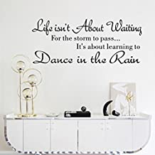 Wall Sticker,IEason Clearance Sale! Life Isn't About Waiting Wall Stickers Quote Dancing in rain Wall Decal Words