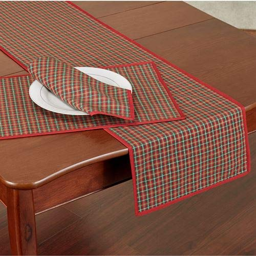 (Bardwill Holiday Nouveau Joyful Table Runner Red 14 x)