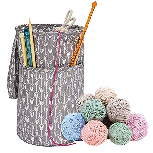(Yarn Storage Bag Lightweight Water-Resistant Large Capacity Knitting Bag Portable Tote Knitting Storage Bag for Storage Yarn Supplies (s))