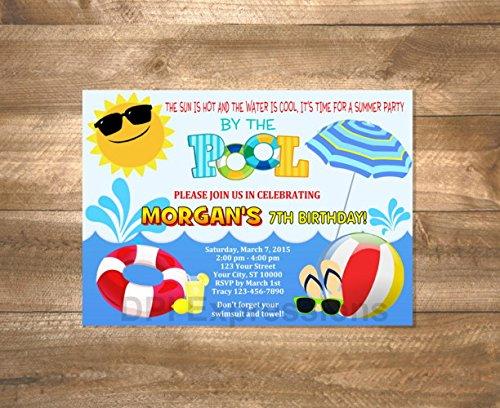 Amazon Pool Party Invitations Birthday