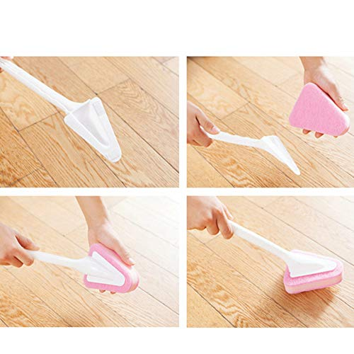 - Triangular Sponge Brush Replacement Cloth Kitchen Bathroom Toilet Cleaning Tool