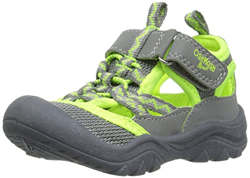 Toddler Fisherman Sandals (OshKosh B'Gosh Hax Boy's Bumptoe Sandal, Grey/Lime, 10 M US Toddler)