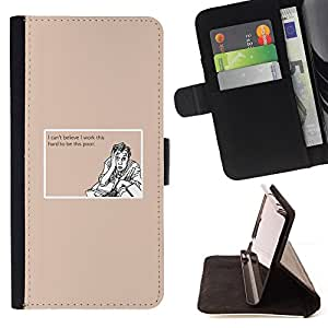 For LG G2 D800 Work Hard Poor Funny Quote Motivational Style PU Leather Case Wallet Flip Stand Flap Closure Cover