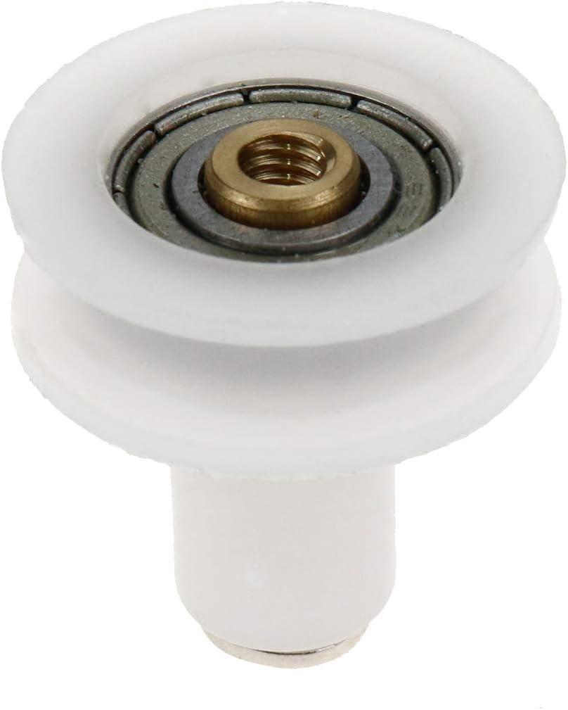 Rannb 10pcs 22mm U Groove Nylon Ball Bearing Sliding Door Gate Wheel for Slide Gate//Angle Bar//Drawers