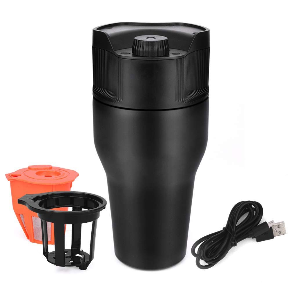 Portable Coffee Maker, USB Simple Portable Coffee Maker Travel Mug with Portable Mini Household Outdoor K-Cup for Travel Coffee Maker 550ml by HWZGXWL