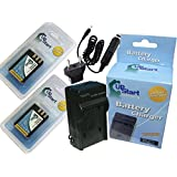 DSND 2x Battery +Charger +Car Plug +EU Adapter for Nikon D5000, MH 23
