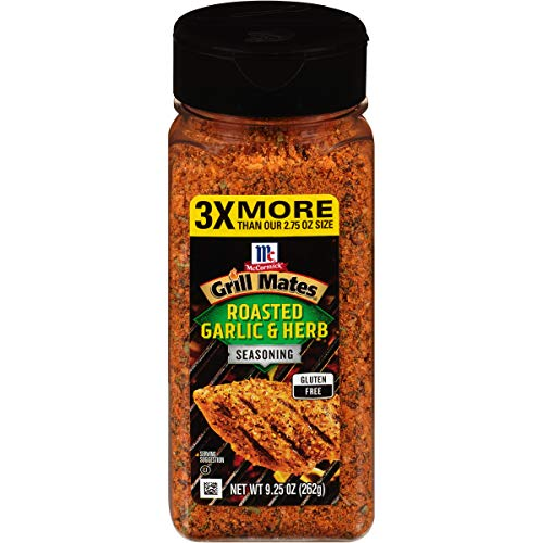 McCormick Grill Mates Roasted Garlic & Herb Seasoning, 9.25 oz Salted Salad