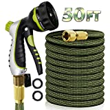 RioRand Garden Hose Water Hose Expandable Hose 50FT Lightweight Flexible Durable Expanding Water