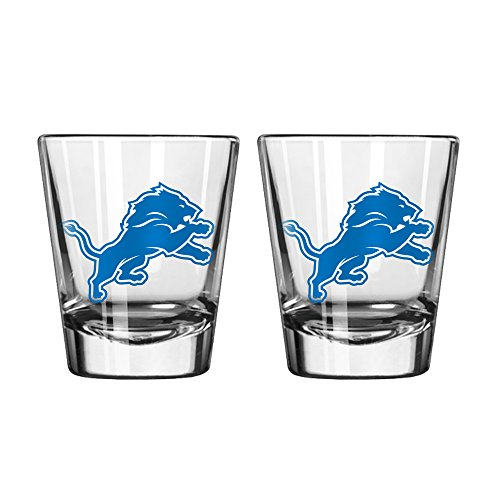 NFL Detroit Lions Game Day Shot Glass, 2-ounce, 2-Pack