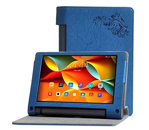SPL Colorful Print Artificial PU Leather Book Stand Cover for Lenovo Yoga 3 8 Inch Tablet  Blue