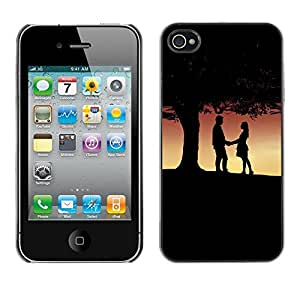 LECELL -- Funda protectora / Cubierta / Piel For Apple iPhone 4 / 4S -- Romance Under Tree --