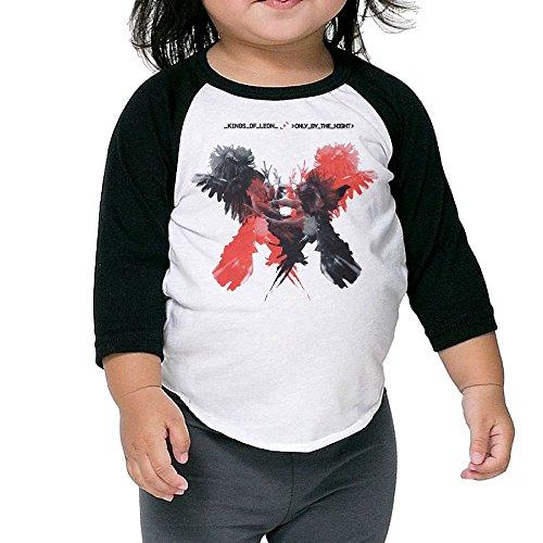 Matta Infant Kings of Leon Only by The Night Raglan Baseball T Shirt for Girls & Boys Black 3 Toddler