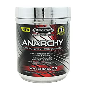 Anarchy Pre-Workout By MuscleTech, Watermelon 30 Servings