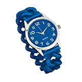 Women's Easy To Read Silicone Stretch Band Watch Royal Blue, Royal Blue, One Size Fits All