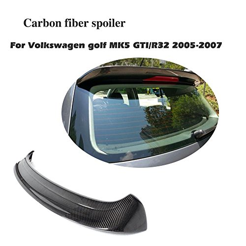 JCSPORTLINE Carbon Fiber Rear Roof Spoiler Wing for Volkswagen VW Golf MK5-GTI R32 2005-2007(Fits:GTI) (Volkswagen Custom Wings)