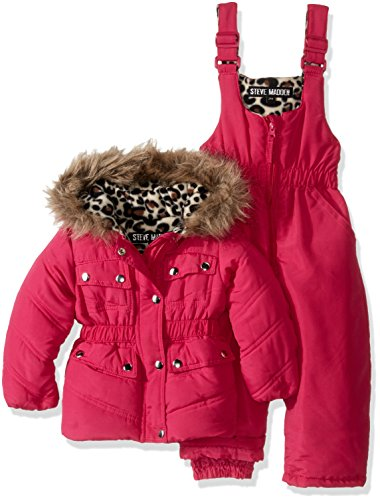 Steve Madden Baby Girls' 2 Piece Parka Jacket and Snowsui...