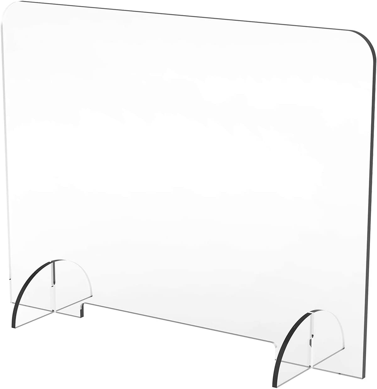 "DeskDefender Plexiglass Sneeze Guard | 36"" Wide x 24"" Tall 