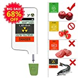Food Radiation Detector,Banne Portable Touch-screen Nitrate Detector Radiation Tester with Built-in Magnet for Fruits,Vegetables,Seafood(Version 3)