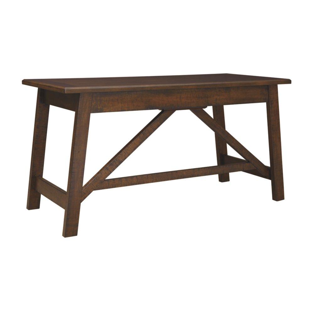 Ashley Furniture Signature Design – Baldridge Wide Leg Desk – Rustic Brown