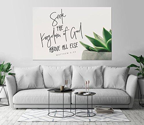 Matthew 6:33 Seek The Kingdom of God Above All Else Inspirat