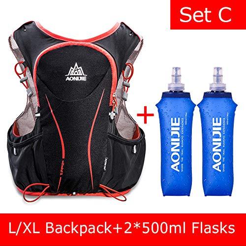 POJNGSN Hydration Pack Backpack Rucksack Bag Vest Harness Water Bladder Hiking Camping Running Race Sports 5L Set C by POJNGSN (Image #2)