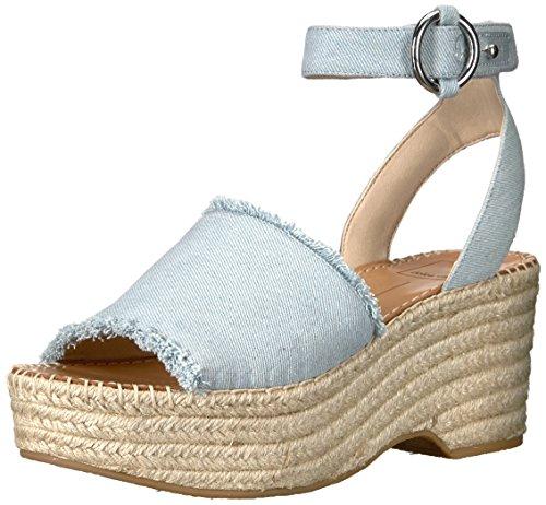 7f3f58c1583 Dolce Vita Women's Lesly Espadrille Wedge Sandal, Light Blue Denim, 6 M US