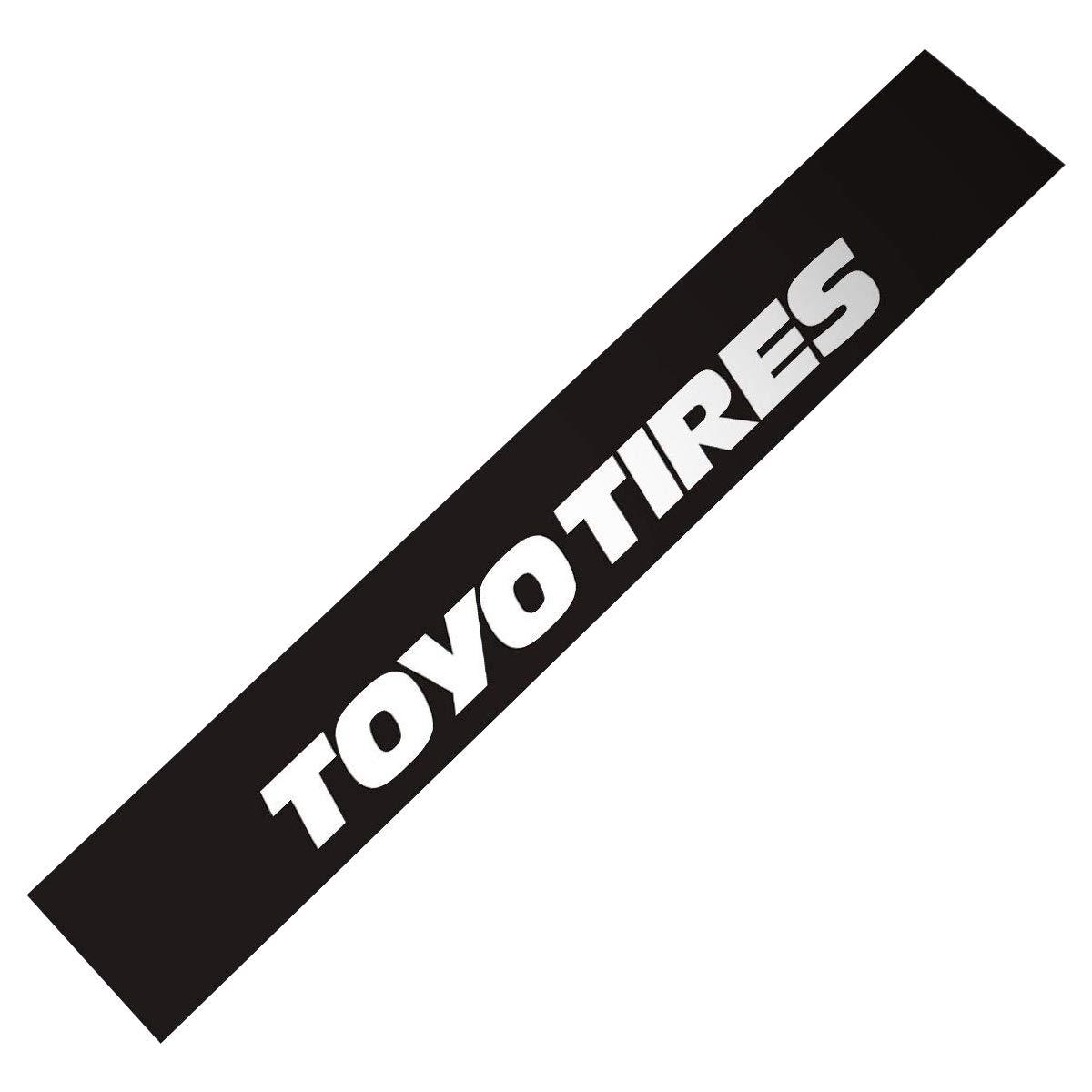 Demupaiフロントフロントガラスのバナーデカールビニール車のステッカーToyo Tires 132cm*21cm ブラック DE-TOYO-TIBK