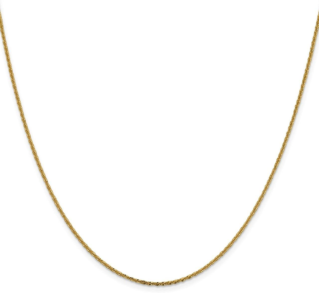 Lex /& Lu Leslies 14k Yellow Gold Cyclone Chain Necklace
