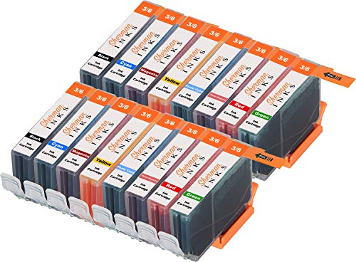 Sherman Replacement Ink Cartridge 16 Pack BCI6 for Printer: Canon PIXMA iP8500 i9900